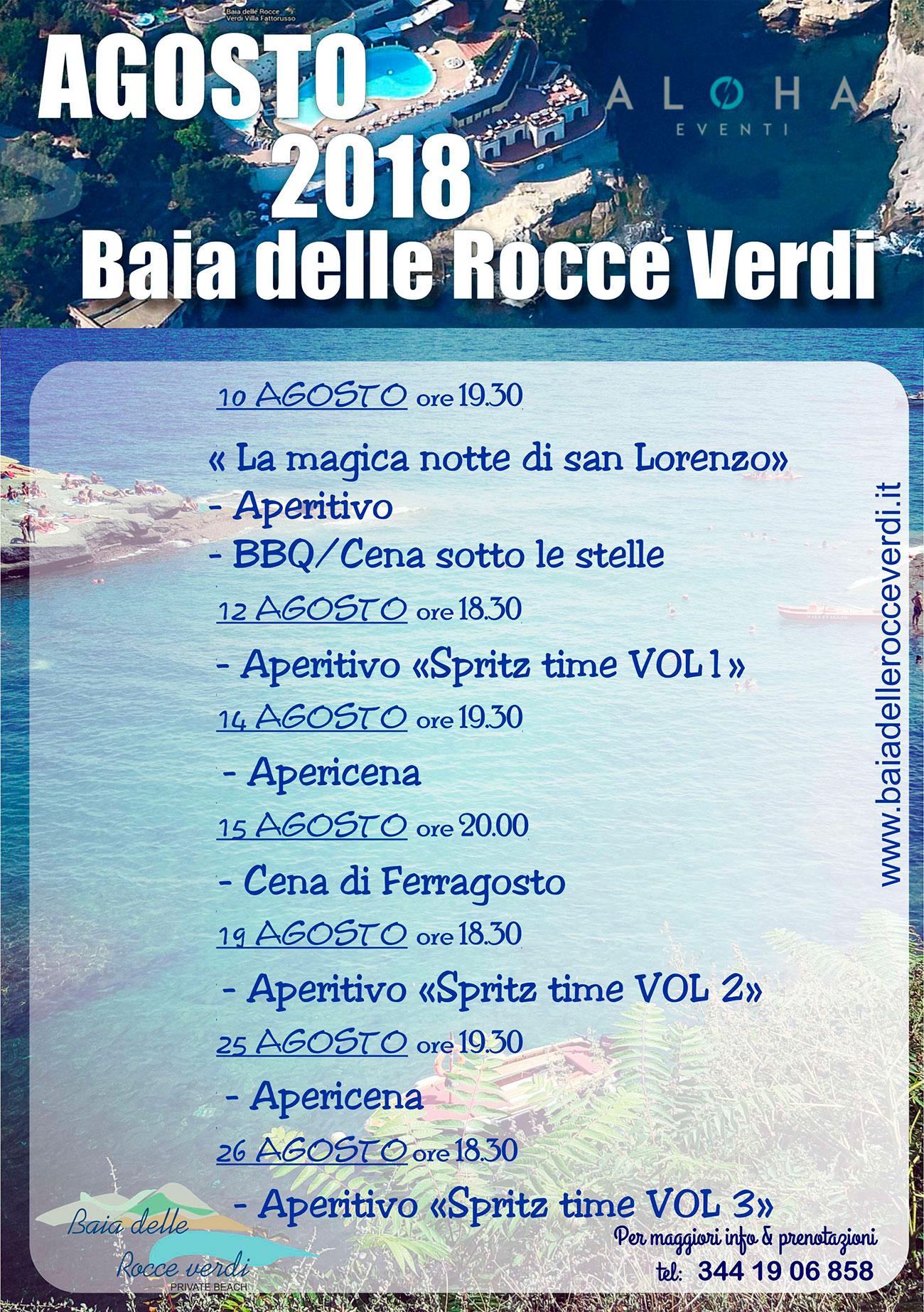 programma agosto 2018 Napoli
